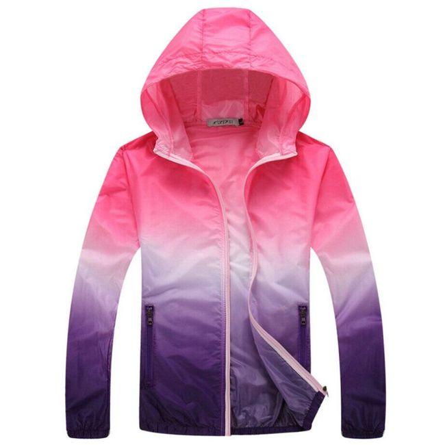 Ženska lahka jakna z barvnimi gradienti 1