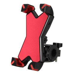 Držák telefonu na řidítka motocyklu či kola - červený