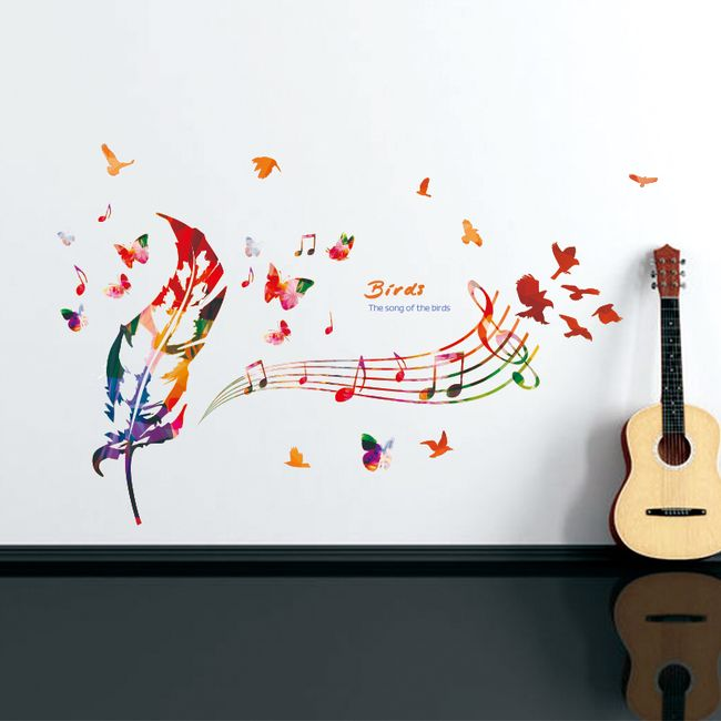 Pestrobarevná dekorativní samolepka na zeď 1