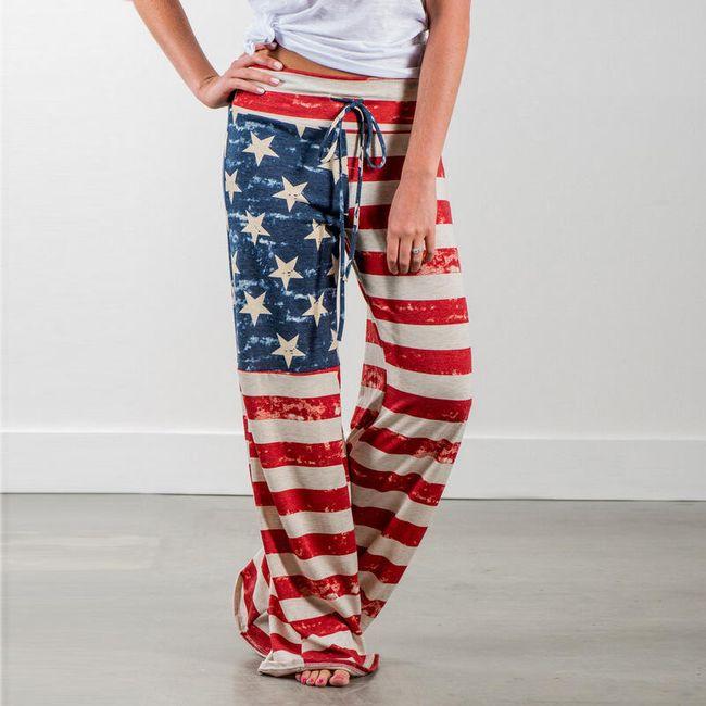 Tepláky v designu americké vlajky 1