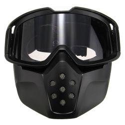 Černé brýle s odnímatelnou ochranou na obličej