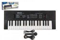 """Pianko / Organ / Klávesy 37 kláves plast napájanie na USB + mikrofón 40cm v krabici 41x15x4cm """" RM_00850280"""