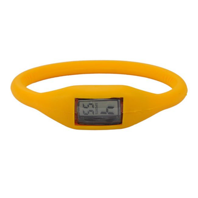 Digitální silikonové hodinky ION - Mandarinkové 1
