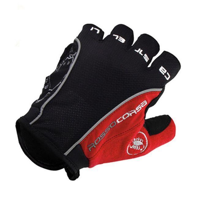 Kvalitní cyklistické rukavice bezprsté - více druhů 1