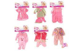 Stroje / Sukienki dla lalek / niemowląt rozmiar ok. 30cm 6 typów 1szt w torbie 25x40cm  RM_00541352