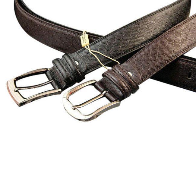 Pánský pásek s decentní strukturou - 2 barvy 1