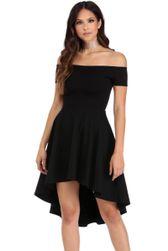 Rochie elegantă cu umerii lăsați - 3 culori Negru - mărimea 2