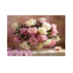Ваза с цветя -5D картина