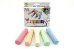 Kolorowe kredy chodnikowe 10,5x2,5x2,2cm 6szt w pudełku  RM_00520294
