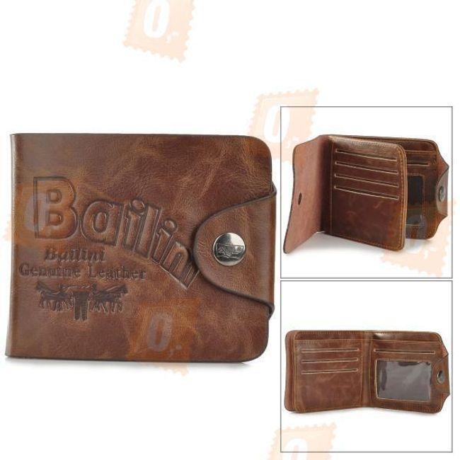 Pánská kožená peněženka - hnědá barva 1