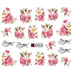 Nalepnice za nokte - ružice