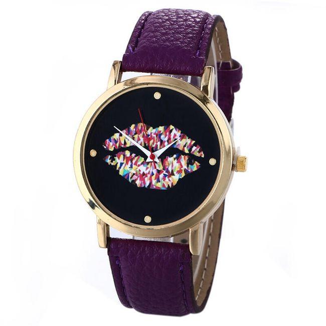 Dámské hodinky s motivem našpulených rtů 1