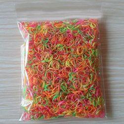 Balení 100 kusů barevných gumiček do vlasů