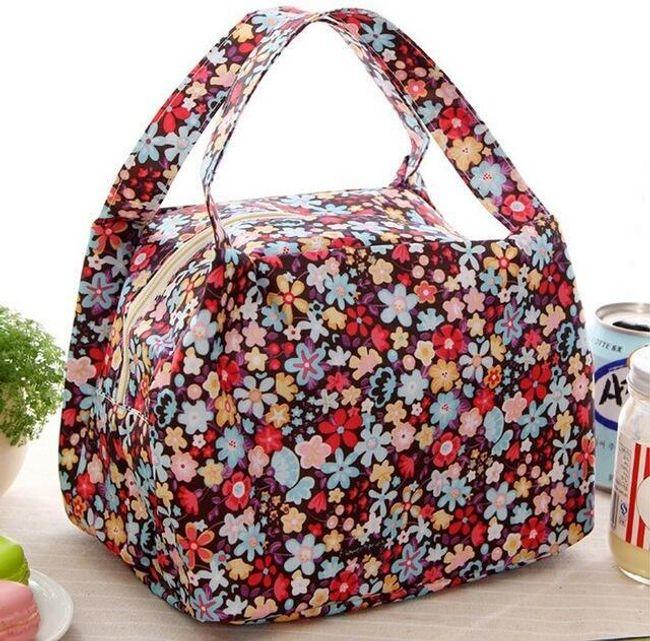 Květinová taška na potraviny - 4 varianty 1