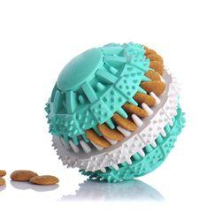 Мяч для собак с ячейками для гранул
