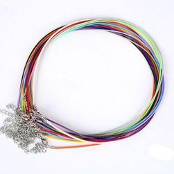 Koženkové šňůrky na krk pro výrobu šperků - 10 kusů - 17 barev