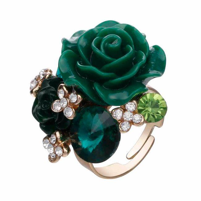 Dámský prsten s růžemi 1