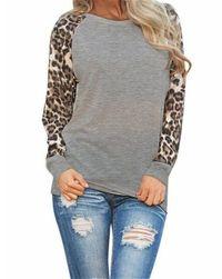 Uzun kollu bayan tişört Oliva