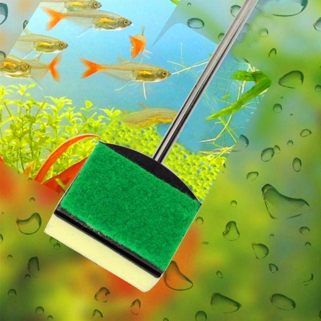 Двусторонняя щетка для чистки аквариума 1