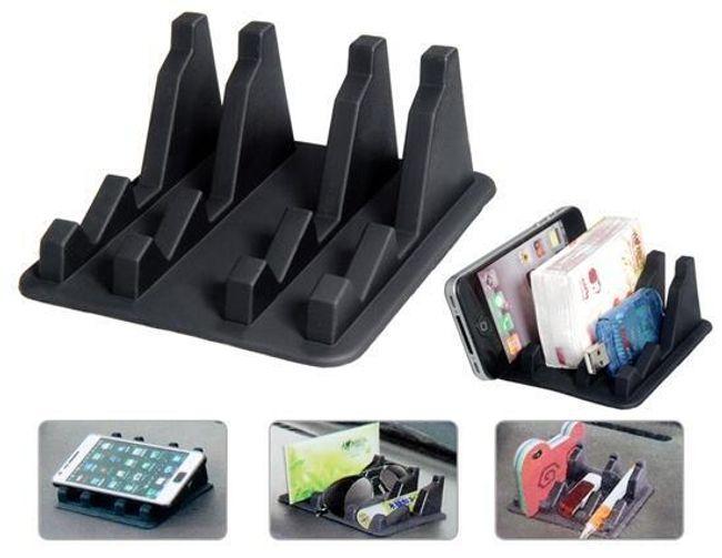 Protiskluzový držák na telefon či drobné předměty - černý 1
