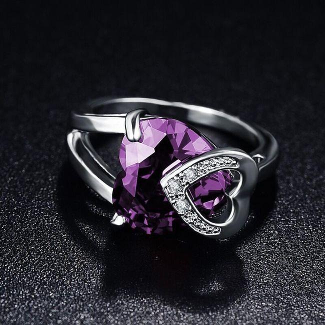 Dámský prsten se srdci 1