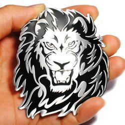 Метален стикер за автомобил - Лъв