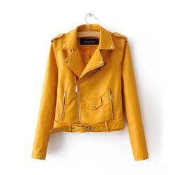 Koženková bunda/křivák - více barev