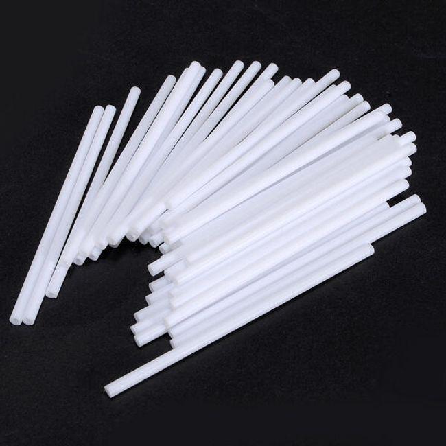 Plastikowe patyczki do lizaków, białe - 100 sztuk 1