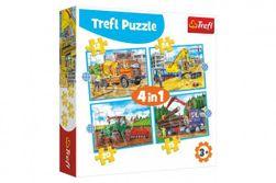 Puzzle 4v1 Pracovné Vozidlá v krabici 28x28x6cm RM_89134353