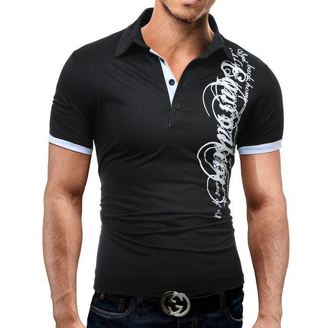 Pánské módní tričko s nápisem - 3 barvy 1