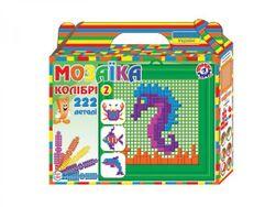 Mozaika sada plast mořský svět barevná 222ks v krabičce 22x20x5cm RM_00880056