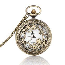 Ceas de buzunar cu design steampunk