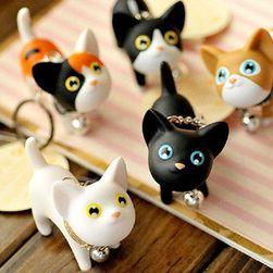 Breloc cu pisica - mix de culori