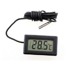 Araç, ev veya su sıcaklığı ölçümü için mini LCD dijital termometre