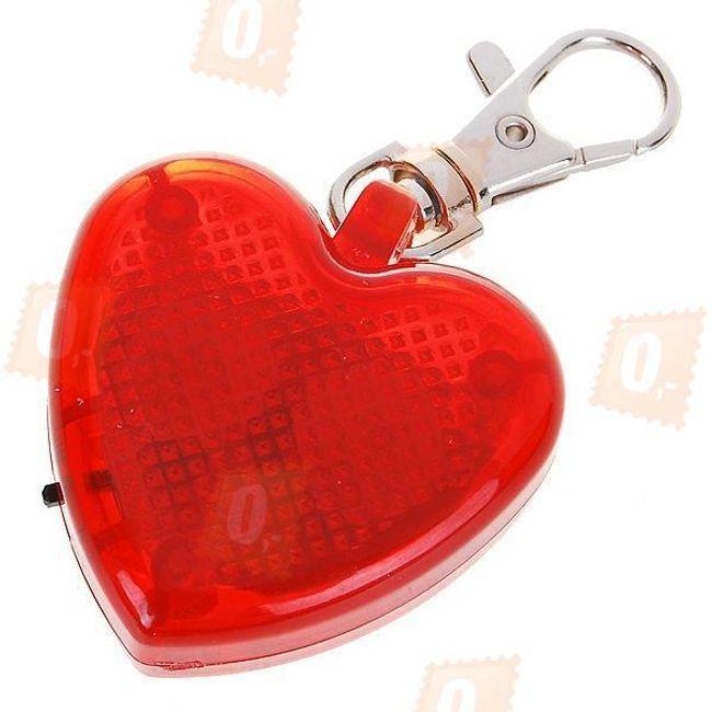Świecący breloczek na obrożę w ksztakcie serca - 2 kolory 1