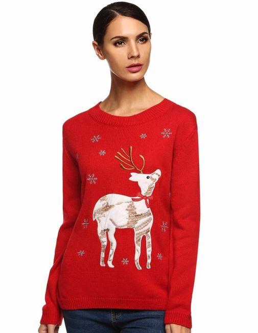 Zimní svetr s jelenem 1