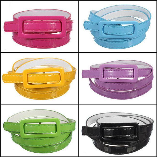 Dámský úzký pásek - v 5 barvách 1