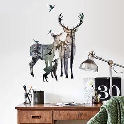 Zidna nalepnica - porodica jelena