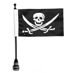 Pirátská vlaječka na motorku - 2 varianty