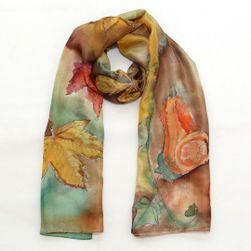 Hedvábná ručně malovaná šála Podzimní nálada