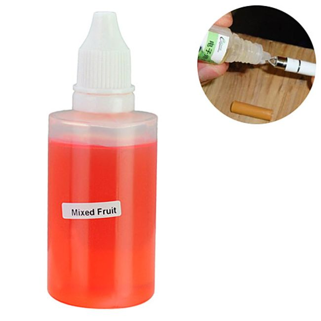 50ml E-liquid s příchutí mixovaného ovoce, vysoký obsah nikotinu 1
