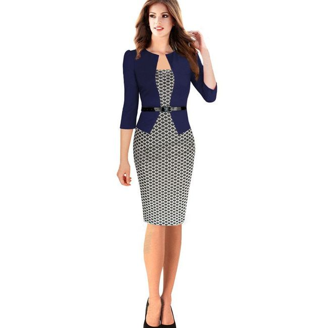 Elegantna obleka kot suknjič 1