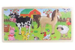 Fa puzzle állatokkal SR_84165