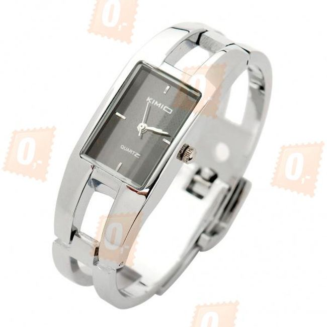 Elegancki zegarek na rękę KIMIO z czarną tarczą 1