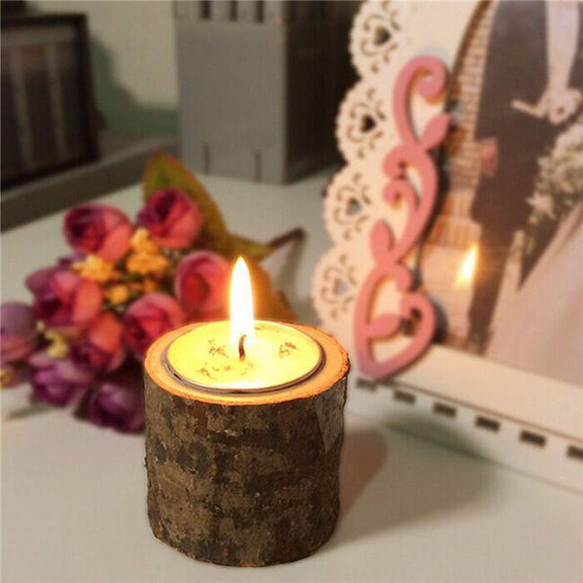 Leseno stojalo za svečo 1