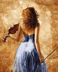 Pictură după numere 40 x 50 cm - violonistă