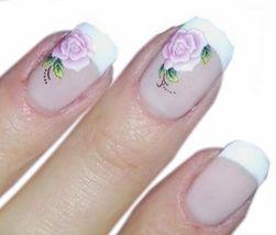 Naklejki na paznokcie - kwiatki