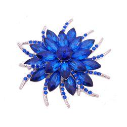 Брошь в форме цветка- 13 расцветок