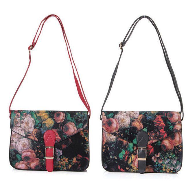 Женская цветочная ретро сумочка на плечо 1