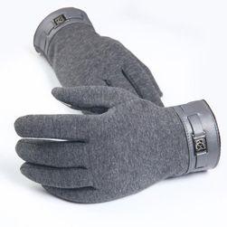 Męskie rękawiczki zimowe na dotykowy telefon Leo
